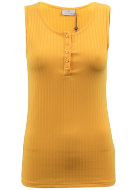 Kaffe - Katrudy Tank Top - Amber Yellow