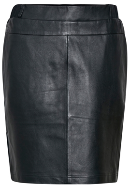Kaffe - Kasofie Leather Skirt - Black Deep