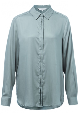 Yaya - Shirt With Concealed Buttons - Utility Green