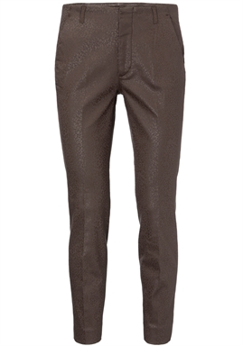 YAYA - Slim-Fitted Trousers With Animal Print - Cacao Brown