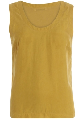 Coster Copenhagen - Strap Top with jersey back - Gold Spice