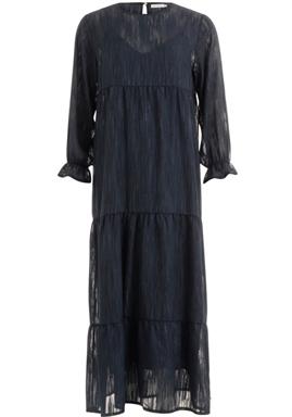 Coster Copenhagen - Dress Long Sleeved With voulume at sleeves - Night Sky Blue