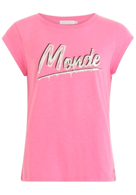 Coster Copenhagen - T-Shirt With Monde Print - Clear Pink