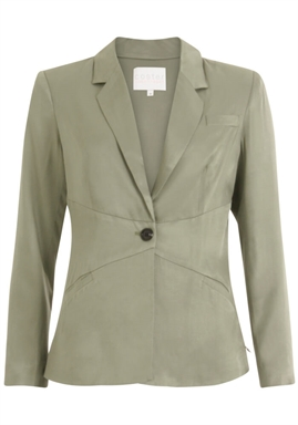 Coster Copenhagen - Suit Jacket w. closure at waist - Crystal Green