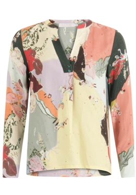Coster Copenhagen - Blouse With Long Sleeves - Flamingo Flower