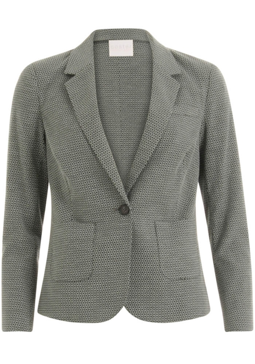 Coster Copenhagen - Suit Jacket in Stretch Jaquar - Sea Grass Jaquard