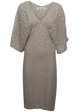 Six Ámes - Dorthe Dress - Grey Leopard