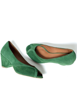 Anonymous Copenhagen - Tiffany Shoes - Suede Golf Green