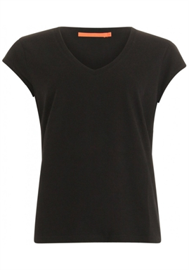 Coster Copenhagen - Basic Tee With V-neck - Black