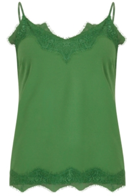 Coster Copenhagen - Strap Top With Lace - Forrest Green