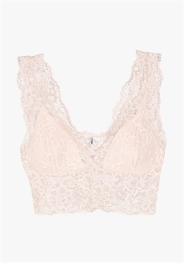 PIECES - PCLINA lace Bra Top - Cameo Rose