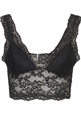 PIECES - PCLINA lace Bra Top - Black