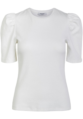 PIECES - Pcanna SS Top - Bright White