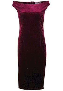 Krez - Afinity Velour Dress - Wine