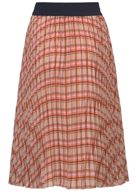 Modström - Bitte Print Skirt - Light Sand Check