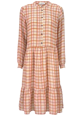 Modström - Bolette Print Dress - Light Sand Check