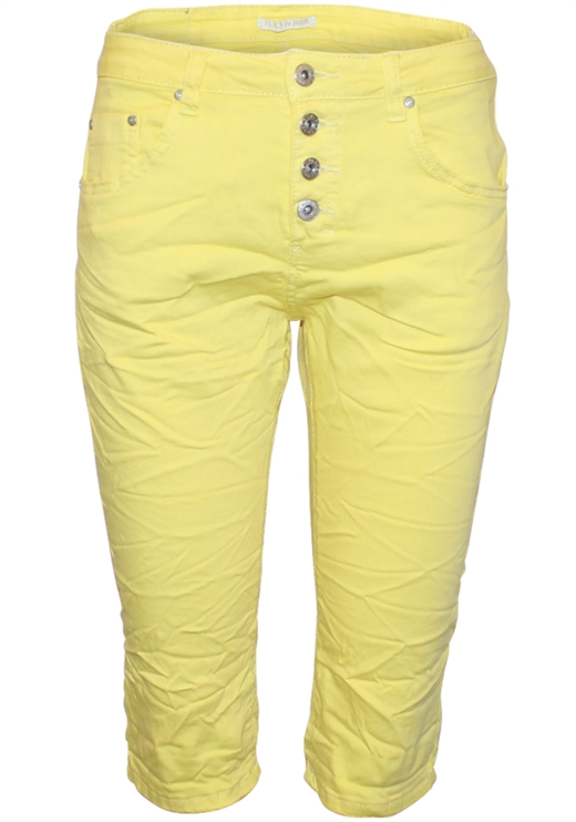 Place du Jour - Lange Shorts - Yellow