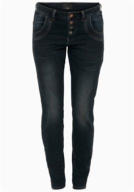 Pulz - Melina Loose Jeans - Dark Blue Denim
