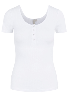 PIECES - PCKITTE SS TOP - BRIGHT WHITE