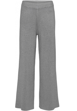 NORR - Als Knit Pants - Light grey melange