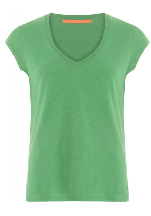 Coster Copenhagen - Basic Tee With V-Neck - Emerald Green