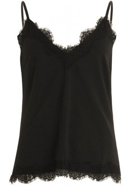 Coster Copenhagen - Strap top with lace - Black