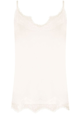 Coster Copenhagen - Strap top with lace - Off White