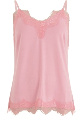 Coster Copenhangen - Strap Top With Lace - Soft Pink