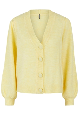 PIECES - PCDINA LS KNIT CARDIGAN - Pale Banana