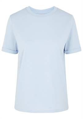 PIECES - PCRIA SS FOLD UP SOLID TEE - KENTUCKY BLUE