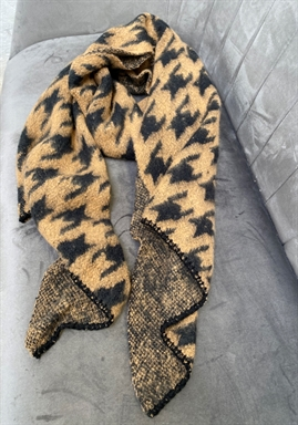 PIECES -  PCPYRON LONG SCARF - Brown/Black