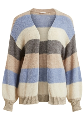 VILA - VIOLIVIA NEW L/S KNIT CARDIGAN - BIRCH/COLONY/HUMUS