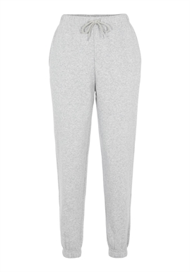 FORUDBESTILLING - PIECES - PCCHILLI HW SWEAT PANTS - LIGHT GREY MELANGE (MIDT DECEMBER)