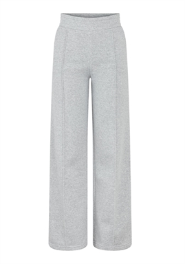 PIECES - PCCHILLI HW WIDE PANTS - Light Grey