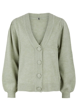 PIECES - PCDINA LS KNIT CARDIGAN - Desert Sage
