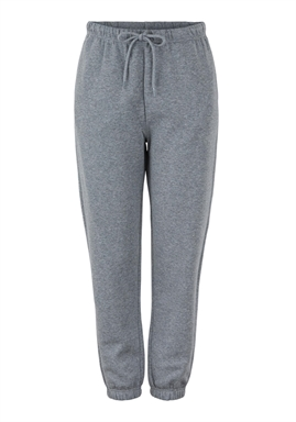 PIECES - PCCHILLI HW SWEAT PANTS - DARK GREY MELANGE