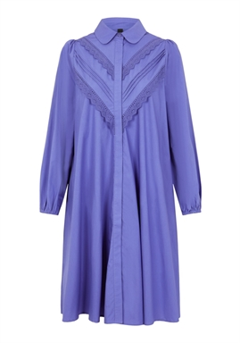 Y.A.S - YASHANA 7/8 SHIRT DRESS - Blue Iris