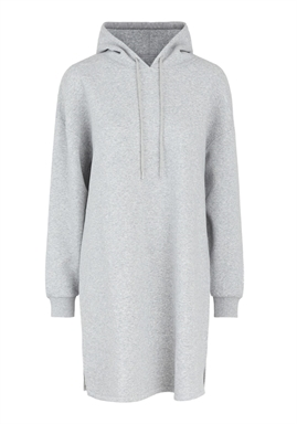 FORUDBESTILLING - PIECES - PCCHILLI LS SWEAT DRESS -  LIGHT GREY MELANGE