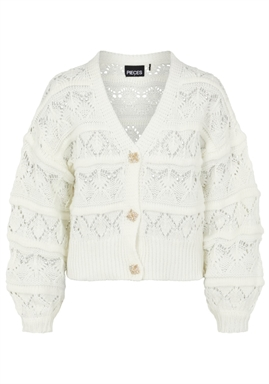 PIECES - PCJOSSI LS KNIT CARDIGAN - Cloud Dancer