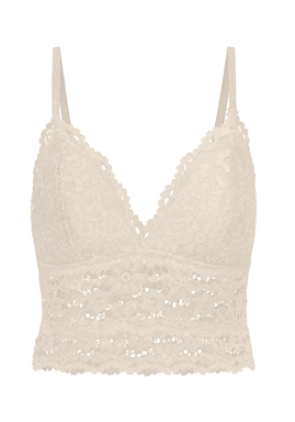 PIECES - PCARKA LACE BRA - Whitecap Gray