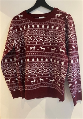 VILA - VIKNITAN L/S X-MAS RED KNIT TOP