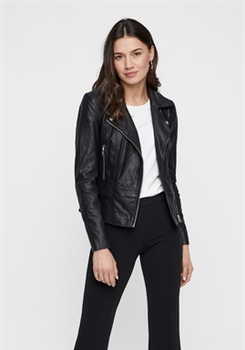 Y.A.S - YASSOPHIE LEATHER JACKET - BLACK