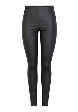 PIECES - PCSKIN PARO HW COATED LEGGINGS - BLACK