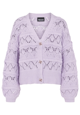 PIECES - PCJOSSI LS KNIT CARDIGAN - Orchid Bloom