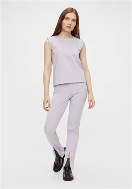 PIECES - PCGITA HW SLIT PANTS - Lavender