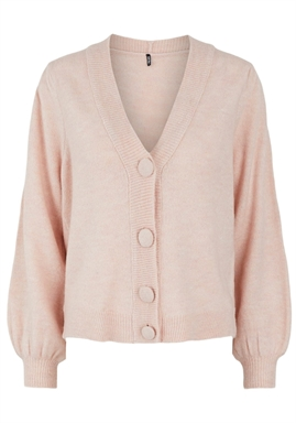 PIECES - PCDINA LS KNIT CARDIGAN - Misty Rose