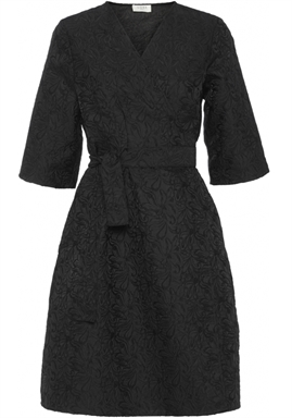 NORR - Tilde wrap dress - Black