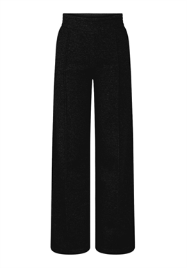 PIECES - PCCHILLI HW WIDE PANTS - Black