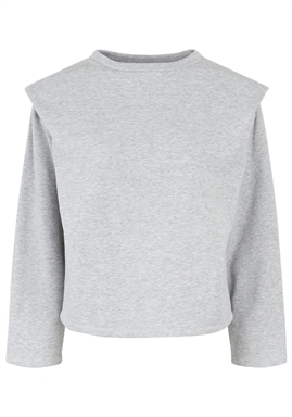 PIECES - PCJYTTA LS SWEAT - LIGHT GREY MELANGE