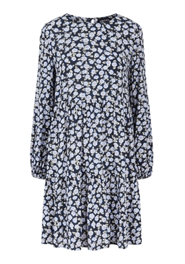 PIECES - PCUMISKA LS DRESS - Sky Captain light blue flowers